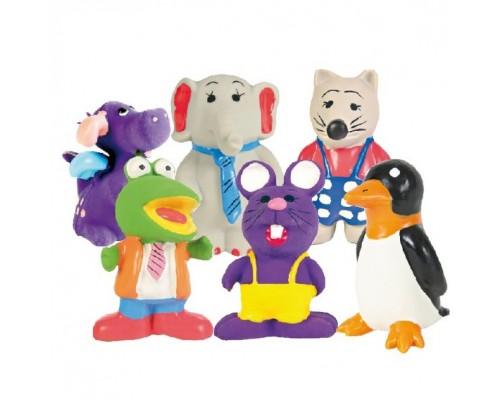 Trixie Dog Toy Small Figure - игрушка для собак с пищалкой Фигурки Животных из латекса, 6-9 см