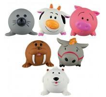 Trixie Ball Animal - игрушка для собак с пищалкой круглая Животные из латекса, 6 см