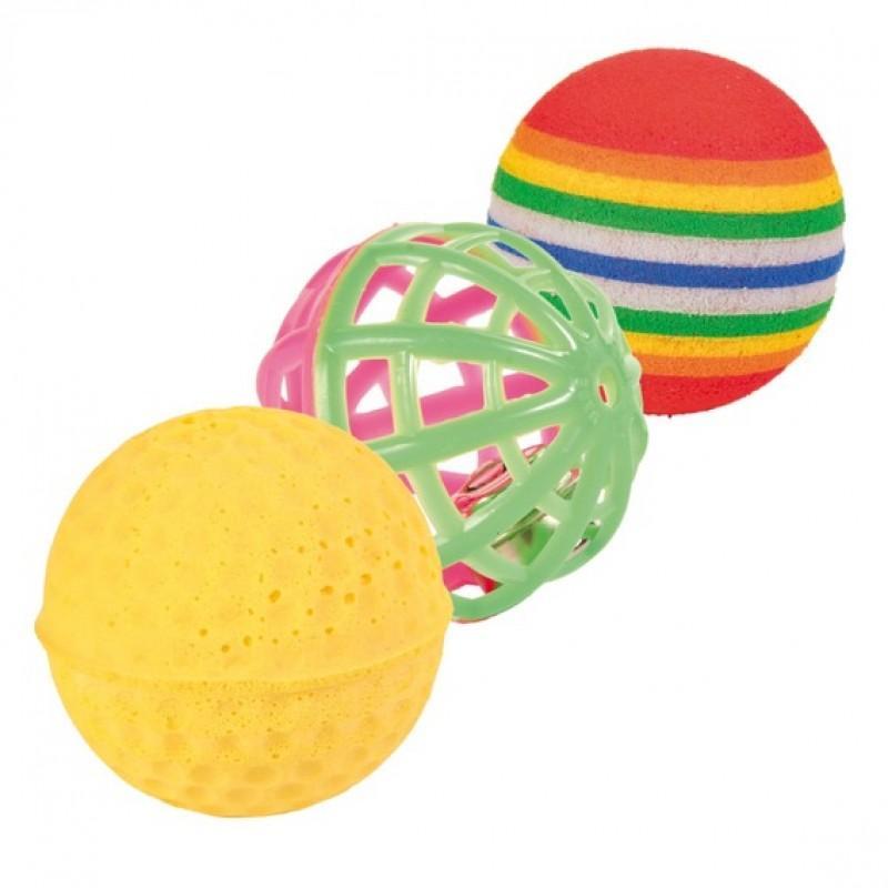 Игрушка для кота Trixie Набор мячиков 4см.(3шт) (4132)