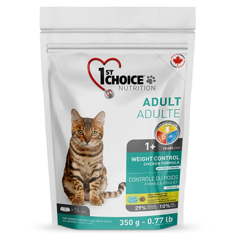 1st Choice Weight Control Adult, 0.35 кг ФЕСТ ЧОЙС КОНТРОЛЬ ВЕСА сухой супер премиум корм для кошек, склонных к полноте