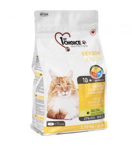 1st Choice Senior Mature Less Aktiv, 5.44 кг ФЕСТ ЧОЙС СЕНЬОР сухой супер премиум корм для пожилых или малоактивных котов