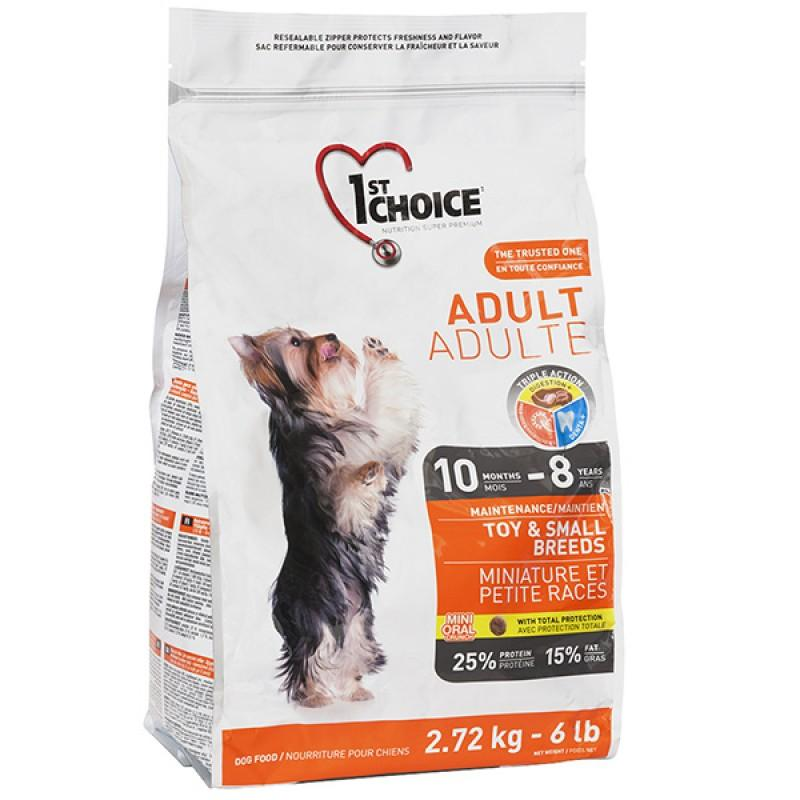 Сухой супер-премиум корм для взрослых собак мини и малых пород 1st Choice Adult Toy & Small Chicken, 2.72 кг Chicken ФЕСТ ЧОЙС ВЗРОСЛЫЙ МИНИ КУРИЦА