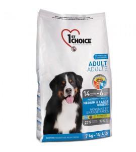 Сухой супер-премиум корм для взрослых собак средних и крупных пород 1st Choice Adult Medium & Large Chicken, 15 кг ФЕСТ ЧОЙС ВЗРОСЛЫЙ СРЕДНИЕ КРУПНЫЕ КУРИЦА
