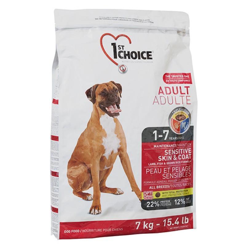 1st Choice (Фест Чойс) Adult Sensitive Lamb & Fish сухой корм для взрослых собак с ягненком и рыбой 15 кг