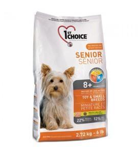 1st Choice (Фест Чойс) Senior Toy & Small Breeds сухой корм для пожилых или малоактивных собак мини и малых пород с курицей 2,72 кг