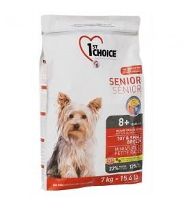 Сухой супер-премиум корм для пожилых или малоактивных собак мини и малых пород 1st Choice Senior Toy & Small Breeds, 7 кг ФЕСТ ЧОЙС СЕНЬОР МИНИ КУРИЦА