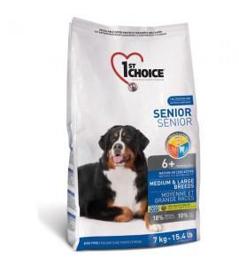Сухой супер-премиум корм для пожилых или малоактивных собак средних и крупных пород 1st Choice Senior Medium & Large Chicken 14 кг, ФЕСТ ЧОЙС СЕНЬОР СРЕДНИЕ КРУПНЫЕ КУРИЦА
