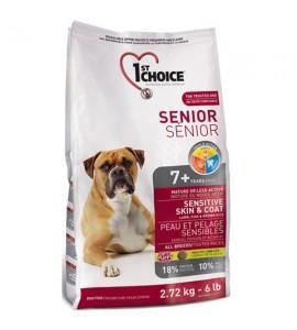 Сухой супер премиум корм для пожилых или малоактивных собак 1st Choice Senior Sensitive Skin & Coat Lamb & Fish, 2.72 кг ФЕСТ ЧОЙС СЕНЬОР ЯГНЕНОК РЫБА