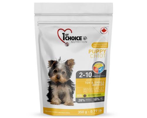 1st Choice (Фест Чойс) Puppy Toy & Small Chicken сухой корм для щенков мини и малых пород с курицей 350 г