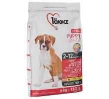 1st Choice (Фест Чойс) Puppy Sensitive Skin & Coat Lamb & Oceanic Fish сухой корм для щенков всех пород с ягненком и океанической рыбой 14 кг