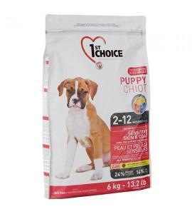 Сухой супер-премиум корм для щенков 1st Choice Puppy Sensitive Skin & Coat Lamb & Fish, 14 кг ФЕСТ ЧОЙС С ЯГНЕНКОМ И ОКЕАНИЧЕСКОЙ РЫБОЙ
