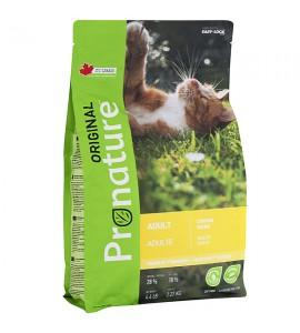 Pronature Original Cat Chicken, 2,27 кг ПРОНАТЮР ОРИДЖИНАЛ КУРИЦА, корм для котов