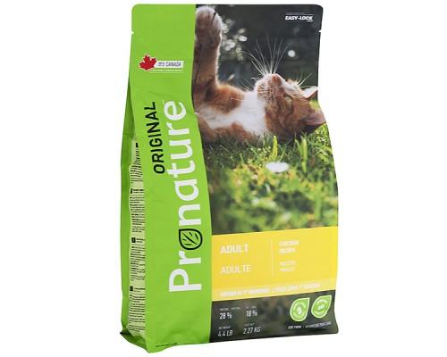 Pronature Original (Пронатюр Ориджинал) Adult Chiсken - сухой корм для котов с курицей, 2,27 кг
