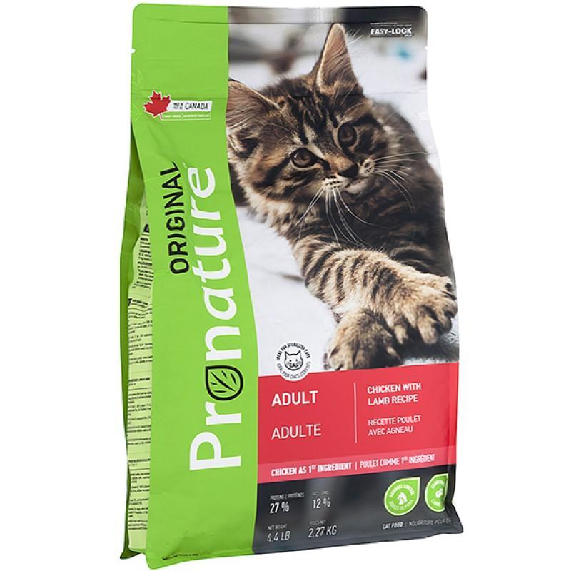 Pronature Original (Пронатюр Ориджинал) Adult Lamb & Chiсken - сухой корм для котов с курицей и ягненком, 2,27 кг