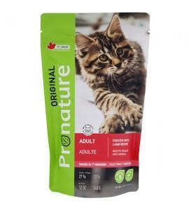 Pronature Original Cat Chicken Lamb, 0,34 кг ПРОНАТЮР ОРИДЖИНАЛ КУРИЦА С ЯГНЕНКОМ, корм для котов