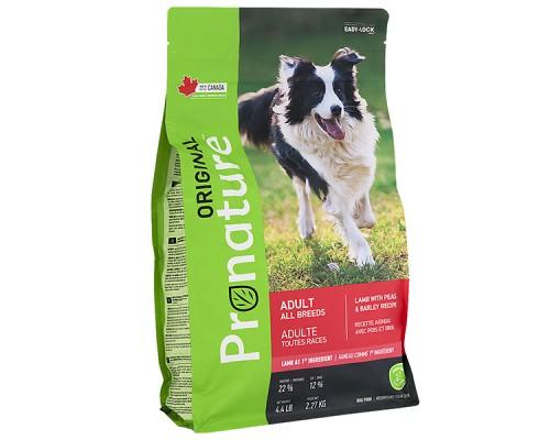 Pronature Original (Пронатюр Ориджинал) Dog Lamb Peas & Barley сухой корм для собак всех пород с ягненком, горохом и ячменем 340 г
