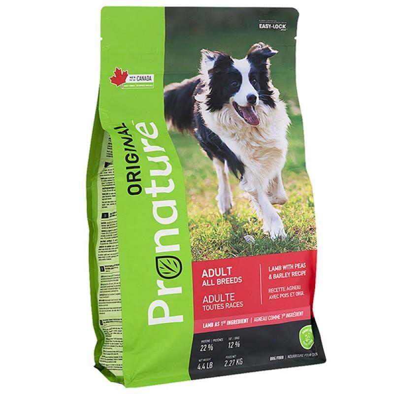 Pronature Original Dog Lamb Peas&Barley, 2,27 кг ПРОНАТЮР ОРИДЖИНАЛ ЯГНЕНОК ГОРОХ C ЯЧМЕНЕМ корм для собак