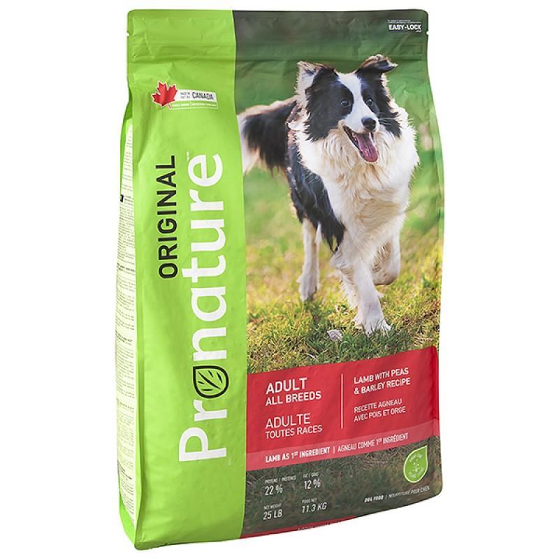 Pronature Original Dog Lamb Peas&Barley, 11,3 кг ПРОНАТЮР ОРИДЖИНАЛ ЯГНЕНОК ГОРОХ C ЯЧМЕНЕМ корм для собак