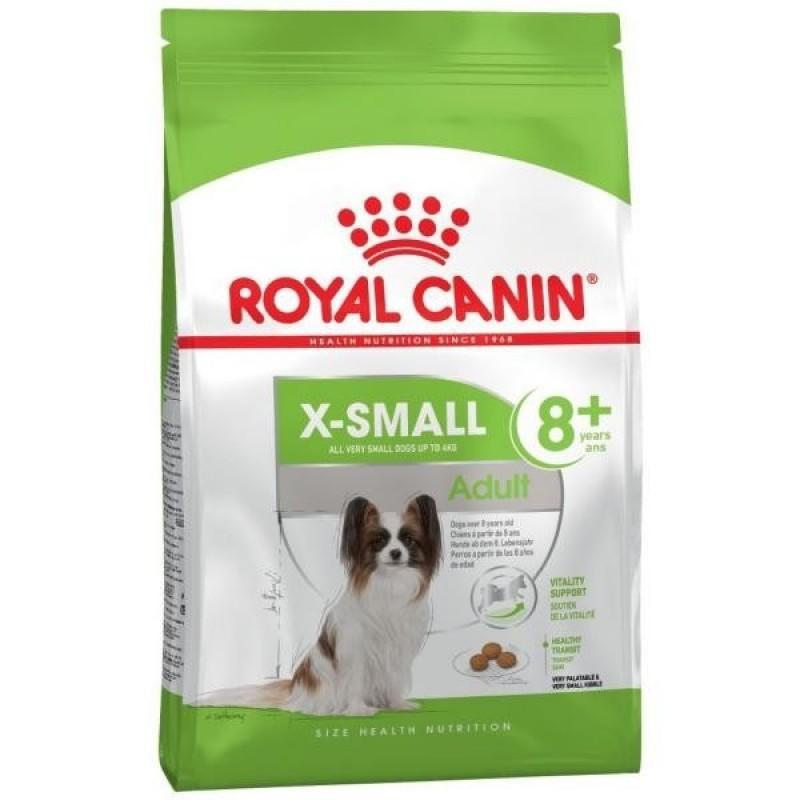 Корм ROYAL CANIN XSMALL ADULT 8+ 1,5кг