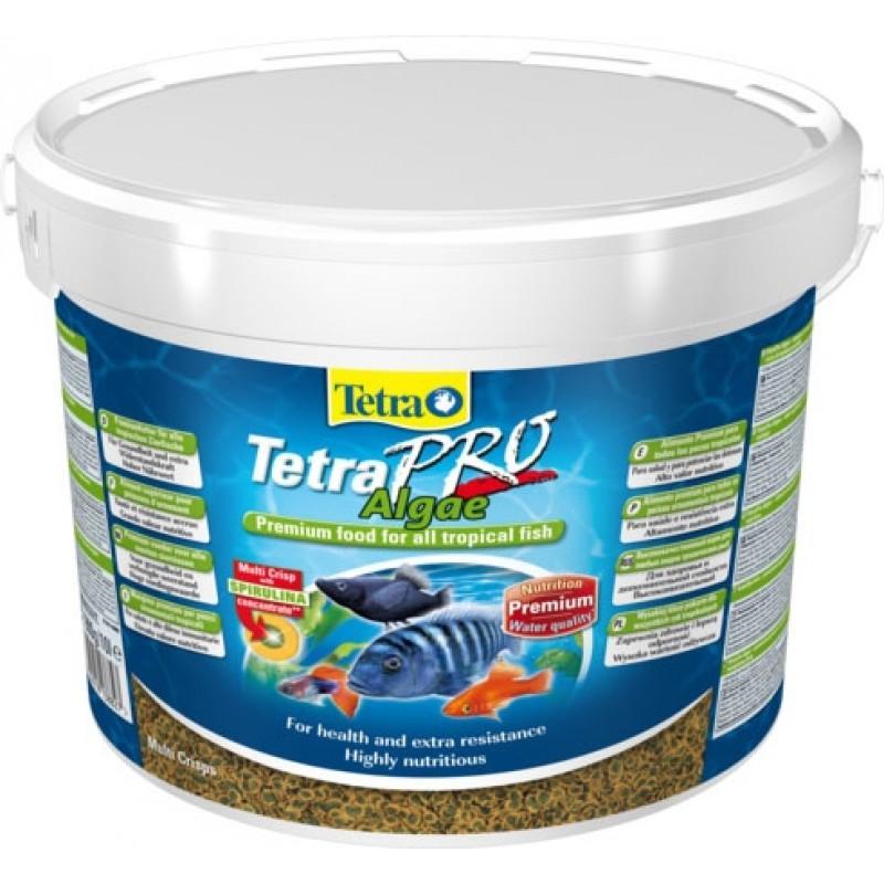 Tetra TetraPro Algae - сухой корм для аквариумных травоядных рыб в чипсах, 10 л