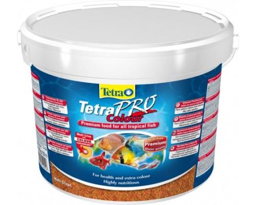 Tetra TetraPro Colour - сухой корм для аквариумных рыб в чипсах, 10 л (усиление окраса)